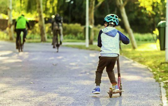 Rowerek i hulajnoga w jednym